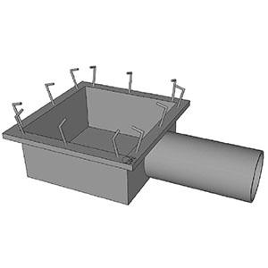 TR19 CATCH BASIN SHALLOW PAN GALV